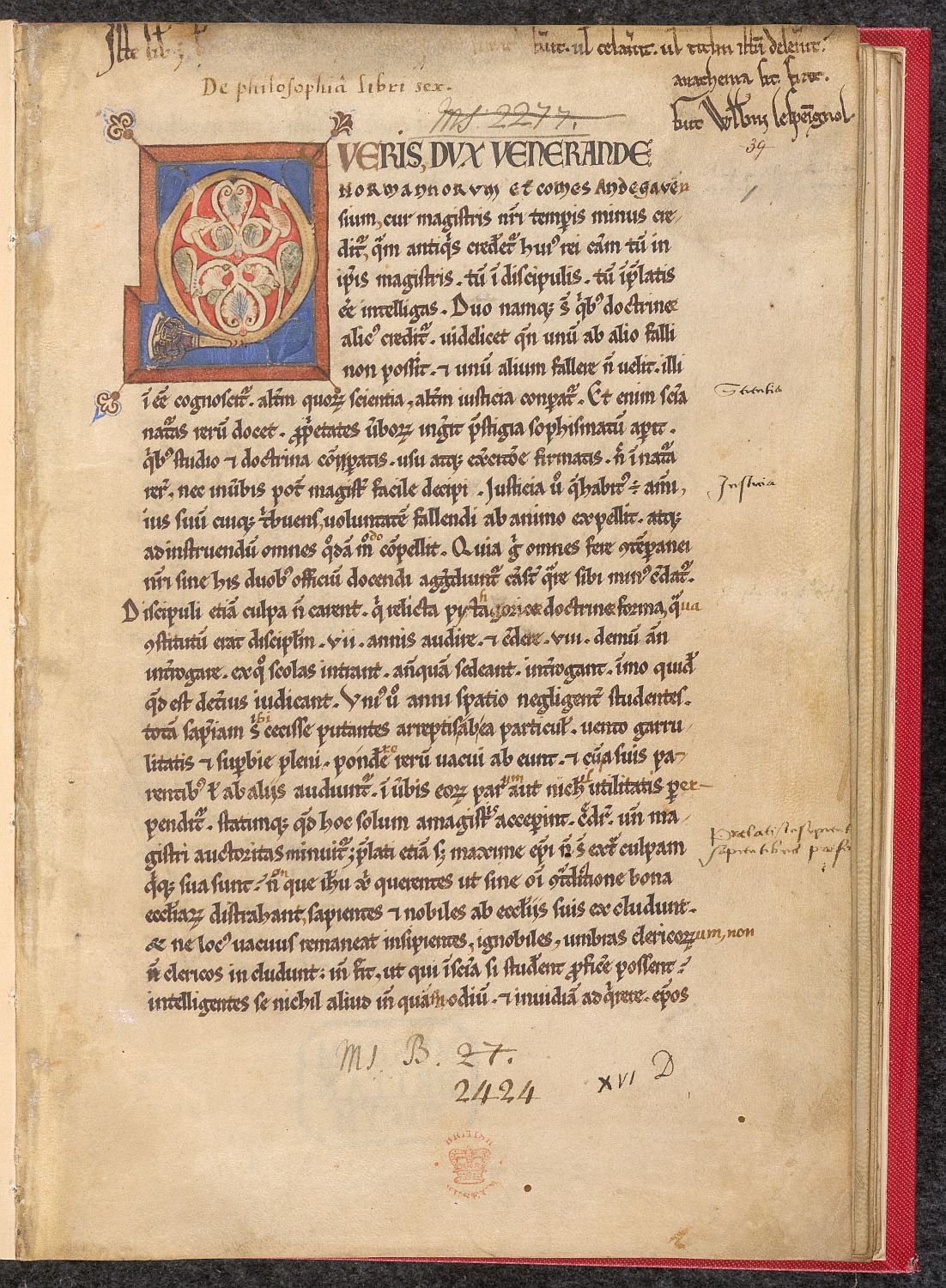 The First Page Of Medieval Book