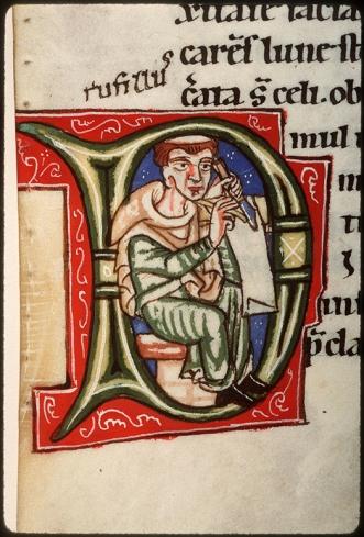 Amiens, BM, Lescalopier 30, fol. 29v (late 12th century)