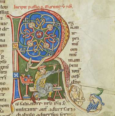 Cologny, Fondation Martin Bodmer, MS 127, fol. 244r (late 12th century)