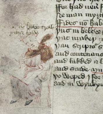 Oxford, Bodleian Library, Douce 104, fol. 52v (dated 1427)