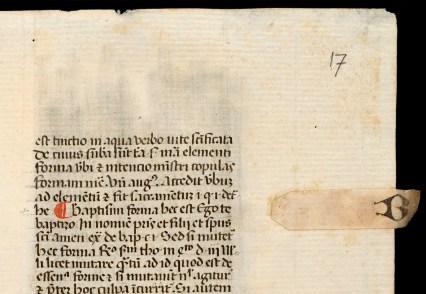 Utrecht, UB, MS 146, fol. 17r (detail)