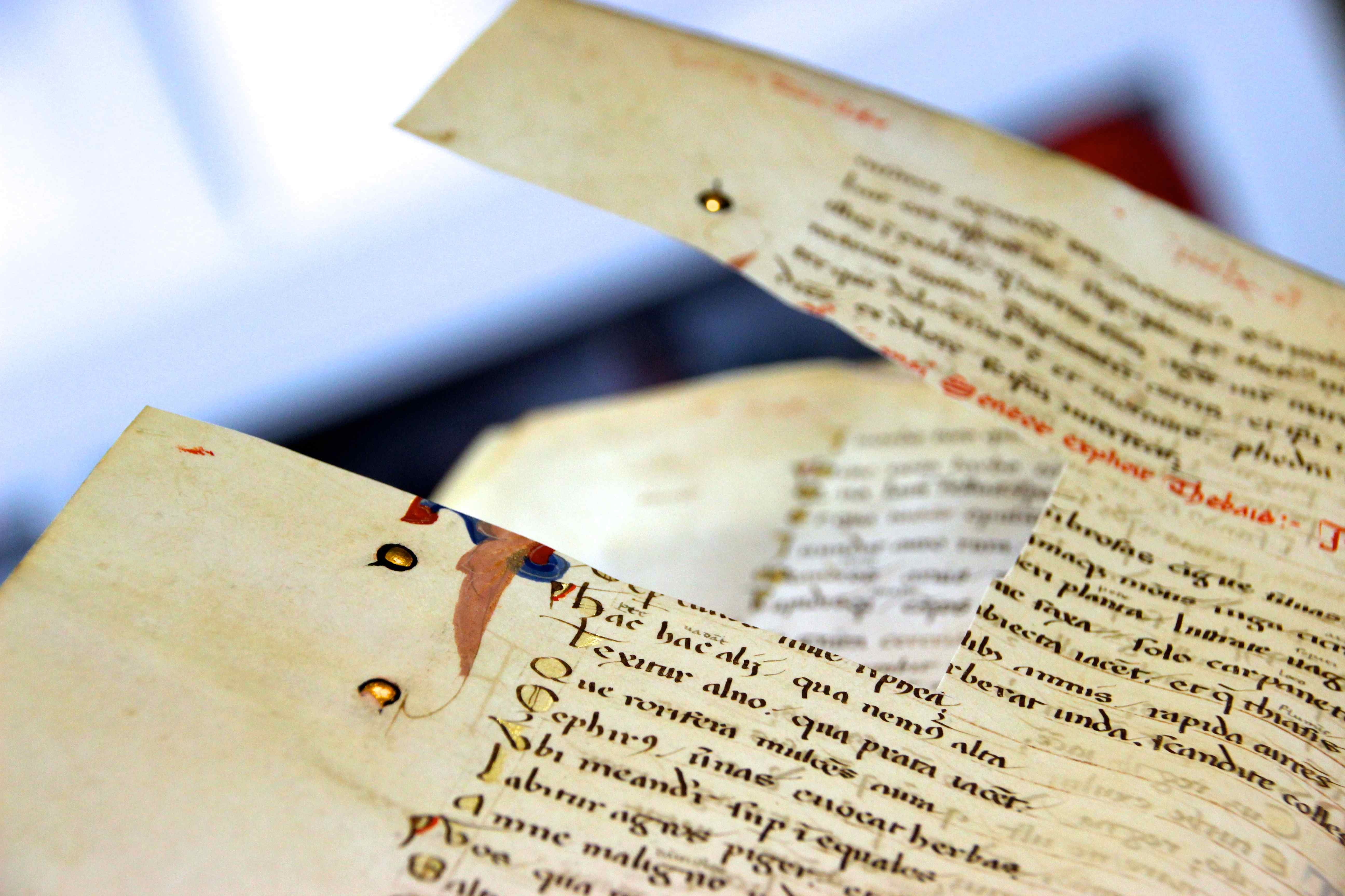 What did people use to write with in the 14th century?