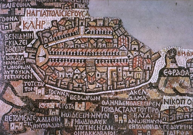 Fig. 4 - Jerusalem portion of the Madaba Map