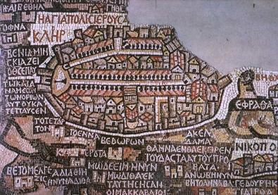 Fig. 4 - Jerusalem portion of the Madaba Map