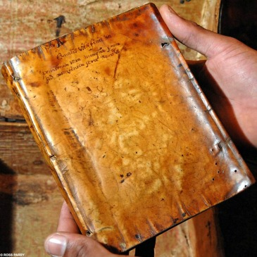 Book bound in human skin (early 17th century)
