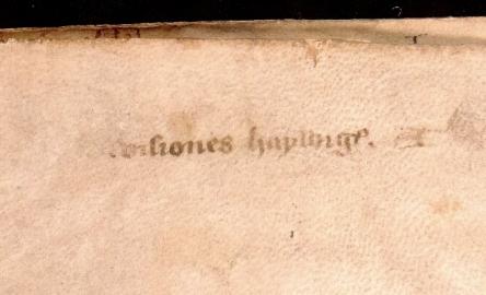Ghent, Universiteitsbibliotheek, 941 (14th century), flyleaf