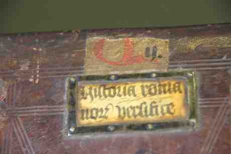 Leiden, Universiteitsbibliotheek, BUR Q 1 (c. 1100), binding 15th century