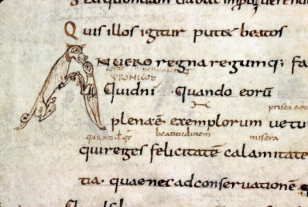 Alençon, Bibliothèque municipale, MS 12, fol. 21v (9th century)