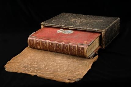 """Stockholm, Royal LIbrary, Karl XII's """"fältbibel"""" (c. 1700)"""