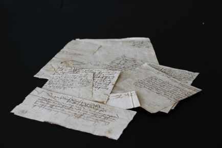 Leiden, Bibliotheca Thysiana, Archive found in book binding (15th century)