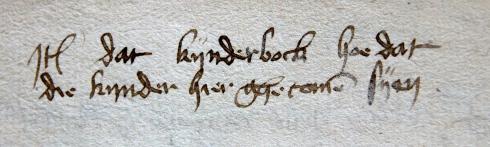 Erfgoed Leiden, HGW, Archiefnr. 519, Inv. nr. 3384, booklet (15th century)