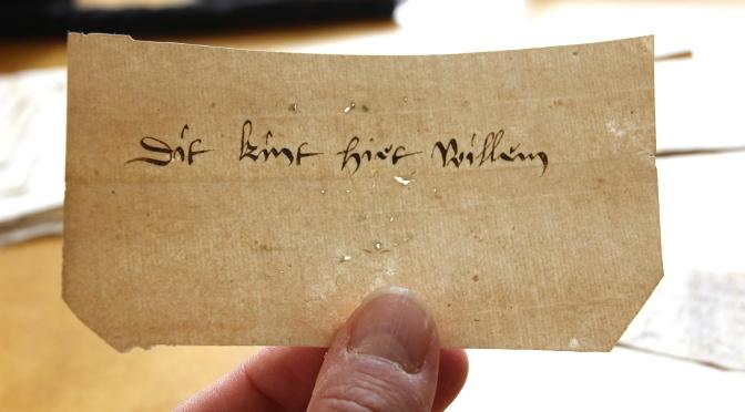 Rare Medieval Name Tags