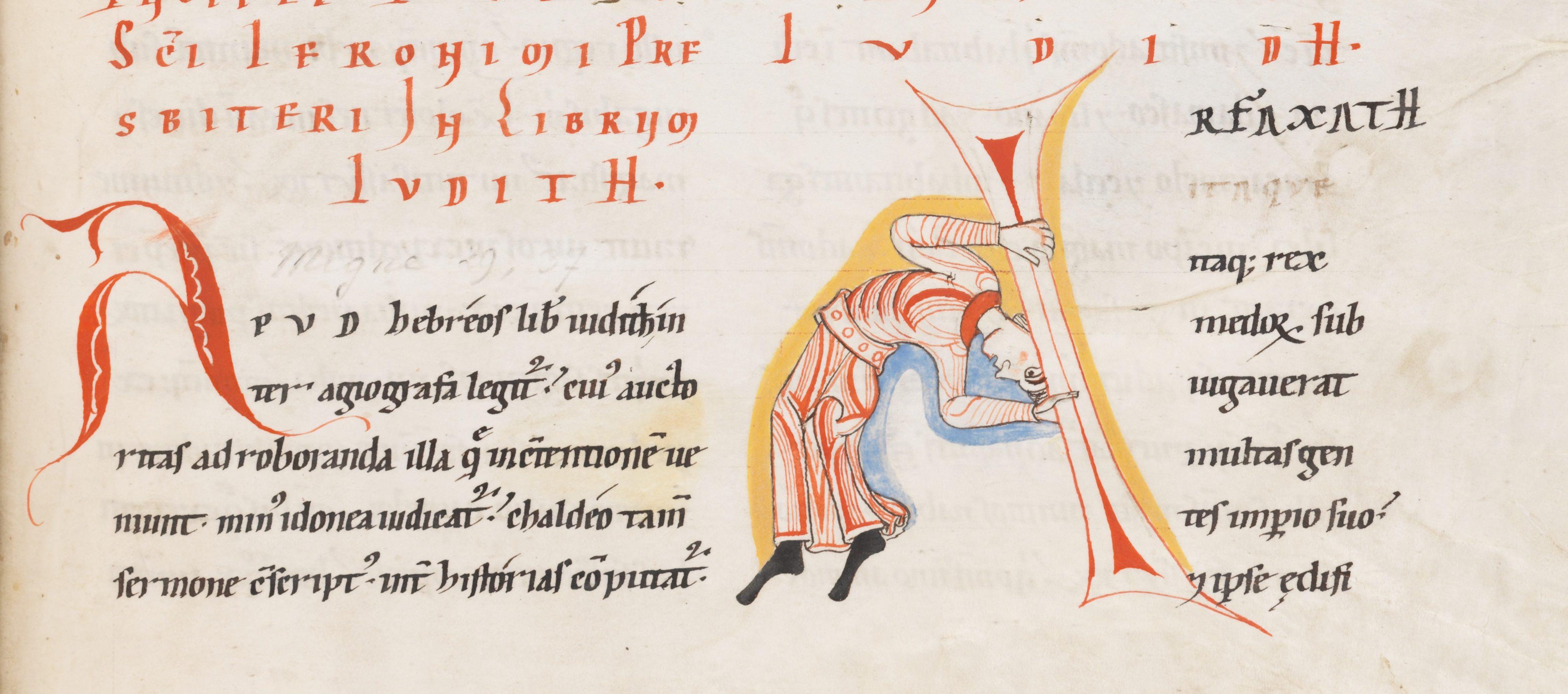 Typography Medievalbooks Pentul Men Engelberg Stifsbibliothek Ms 4 12th Century