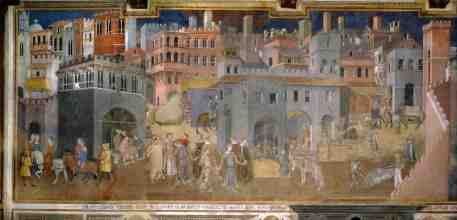 Ambrogio Lorenzetti, Effects of Good Government in the City (Fresco, 1338-1340)
