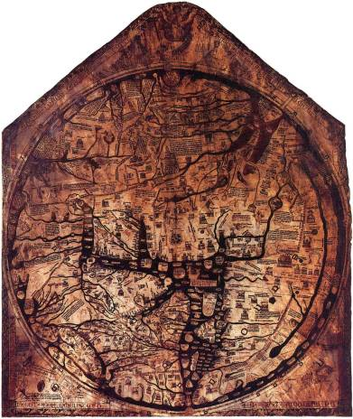 Hereford Cathedral, Mappa Mundi (c. 1300)